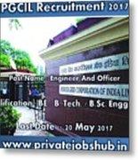 Pgcil Recruitment Metal Print