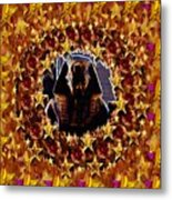 Pharaoh In The Starry Night Metal Print