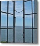 Phare Fenetre Lighthouse Window Metal Print