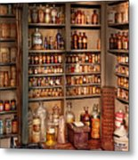 Pharmacy - Get Me That Bottle On The Second Shelf Metal Print by Mike Savad