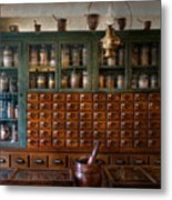 Pharmacy - Right Behind The Counter Metal Print
