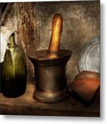 Pharmacy - Pestle - Home Remedies Metal Print