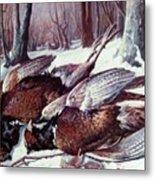 Pheasants Hunt - Sold Metal Print