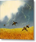 Pheasants On The Rise Metal Print