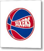 Philadelphia 76ers Retro Shirt Metal Print