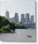 Philadelphia Along The Schuylkill River Metal Print