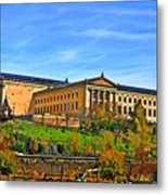 Philadelphia Art Museum From West River Drive. Metal Print