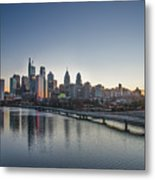Philadelphia At Dawn From The South Street Bridge Metal Print