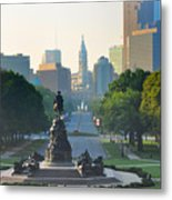 Philadelphia Benjamin Franklin Parkway Metal Print by Bill Cannon