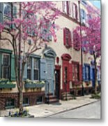 Philadelphia Blossoming In The Spring Metal Print
