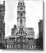 Philadelphia City Hall Building On Broad Street Metal Print