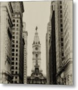 Philadelphia City Hall From South Broad Street Metal Print