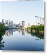 Philadelphia Cityscape Along The Schuylkill River Metal Print