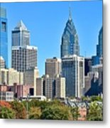 Philadelphia In Tight Metal Print