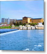 Philadelphia Museum Of Art And The Philadelphia Waterworks Metal Print