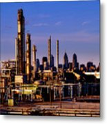 Philadelphia Oil Refinery  Metal Print