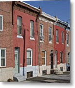 Philadelphia Row Houses Metal Print