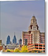 Philadelphia Skyline From Camden Waterfront Metal Print