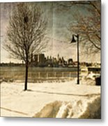 Philadelphia Snowscape Metal Print