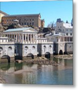 Philadelphia Waterworks And Art Museum Panorama Metal Print