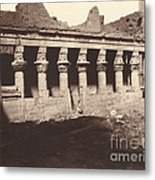 Philae, Cour Int?rieure, Colonnade De L'ouest Metal Print