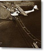 Philippine Clipper A Pan Am Clipper Over The Golden Gate Bridge  1935 Metal Print