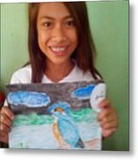 Philippine Kingfisher Painting Contest 7 Metal Print