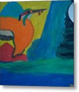 Philippine Kingfisher Painting Contest2 Metal Print