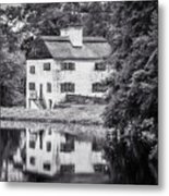 Philipsburg Manor House - Reflections - Bw Metal Print