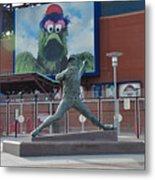 Phillies Steve Carlton Statue Metal Print