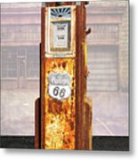 Phillips 66 Antique Gas Pump Metal Print