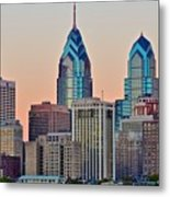 Philly At Sunset Metal Print