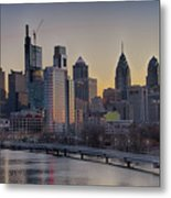 Philly Before Dawn From South Street Metal Print