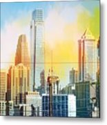 Philly From Drexel Hill Metal Print
