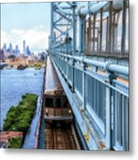 Philly From The Bridge Metal Print