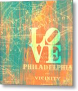 Philly Love V10 Metal Print