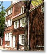 Philly Row House 2 Metal Print by Paul Barlo