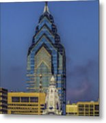Philly Skyline-old And New Metal Print