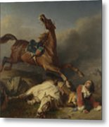 Philogene Tschaggeny   An Episode On The Field Of Battle Metal Print