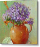 Phlox And Tiger Lilies           Copyrighted Metal Print
