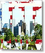 Phoenix City Skyline Metal Print