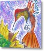 Phoenix Fire Hummingbird Metal Print