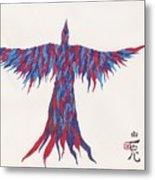 Phoenix Flying Metal Print