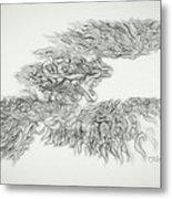 Phoenix Rising Sketch Metal Print