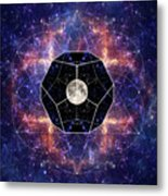 Photo Of The Moon And Sacred Geometry Metal Print