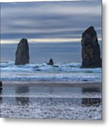 Photographer At Cannon Beach Metal Print