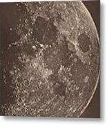 Photographie De La Lune A Son 1er Quartier Metal Print