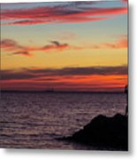 Photographing The Sunset Metal Print