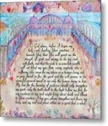Physician Prayer- English Version Metal Print