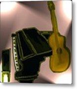 Piano And Guitar Metal Print